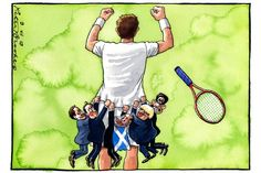 9 July 2013 - All the major British political leaders clinging desperately onto Murray's victory.
