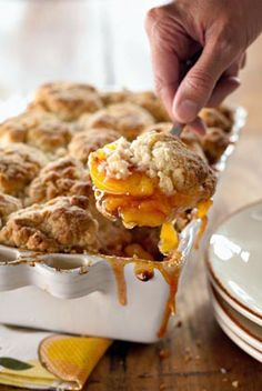 Jamie and Bobby Deen's Peach and Cinnamon Cobbler