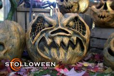 Love this guys work, the site has a step by step to create these paper mache pumpkins. Very fun and simple to make. Made one a few years ago and the trick-or-treaters loved him! Tons of other options such as tombstones, goblins, witches etc... ENJOY!