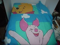 Pair of Vintage Standard Disney Winnie Pooh and Piglet Pillow Cases on Etsy, $12.00