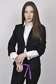 business look, black and white outfit, black jacket, white shirt, management, receptions, uniforms, uniform Business Look, White Outfits, Receptions, Management, Blazer, Black And White, Jackets, Shirts, Women