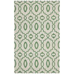 Safavieh Hand-woven Moroccan Reversible Dhurrie Ivory Wool Rug x - Overstock™ Shopping - Great Deals on Safavieh - Rugs Dhurrie Rugs, 4x6 Rugs, Green Wool, Persian Rug, Woven Rug, Oriental Rug, Colorful Rugs, Hand Weaving, Area Rugs