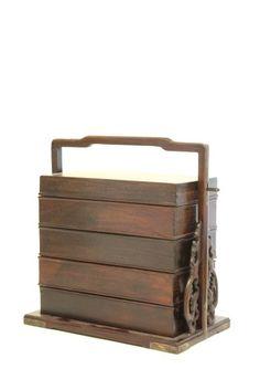 19th c. Chinese Zitan 5 tiered picnic box $4000