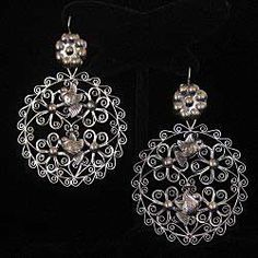 Silver Filigree Earrings.  Trends & Traditions Boutique