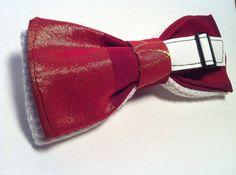 PAPILLON Red & White con Motivo di Cinturino in Pelle di Idillyum