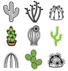 Logo icons cactus vector 1541105 - by andegra on VectorStock®: