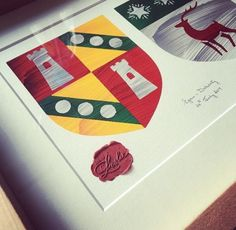 Painted Clans are Custom, Hand-painted Contemporary Family Coat of Arms by Irish Artist & Designer Brendan McCarey. #Weddinggift
