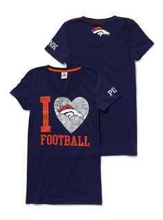 victorias secret denver broncos tee...looks like I'm gonna be lookin for the seahawk one