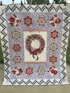 Christmas Quilt by QuiltinginCirclesLLC on Etsy