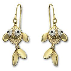 Swarovski goldfish earrings