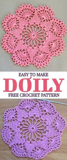 Easy To Make Doily Free Crochet Pattern - At the first sight this beautiful croc. Easy To Make Doily Free Crochet Pattern - At the first sight this beautiful Easy To Make Doily Free Crochet Pattern - Yarnandhooks Lavender sachets -- crochet motif -- set o Free Crochet Doily Patterns, Crochet Motifs, Thread Crochet, Filet Crochet, Crochet Designs, Easy Crochet, Knitting Patterns, Free Pattern, Crochet Ideas