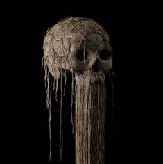 Impressive skull sculptures by Jim Skull #bleaq #sculpture #skull #art