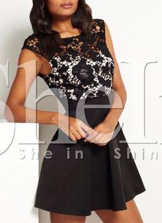 Shop Black Superb Easter Custom Cap Sleeve With Lace Dress online. SheIn offers Black Superb Easter Custom Cap Sleeve With Lace Dress & more to fit your fashionable needs.