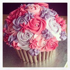 Pink & Purple Giant Cupcake