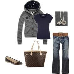 """Polka Dot Hoodie"" by cocodaisy on Polyvore"