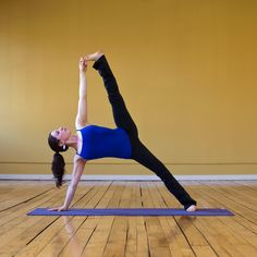 Sage This is the full expression of Sage Pose, but if your hamstrings aren't very flexible, keep both feet on the ground for the beginner version called Side Plank. Hold for five breaths and then switch sides for another five.