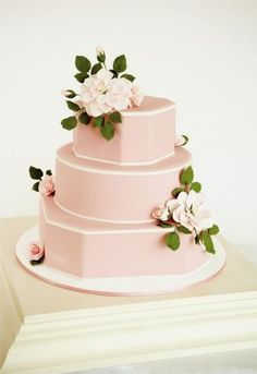 pretty pink cake featured in Charleston Weddings