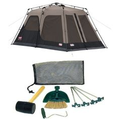 Coleman 14x8 Foot 8 Person Instant Tent with Rainfly and Tent Kit Bundle null   sc 1 st  Pinterest & Coleman 14x10 Foot 8 Person Instant Tent by Coleman http://www ...