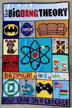 FREE Big Bang Theory inspired C2C Crochet Blanket pattern