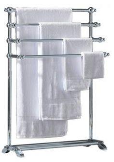 Hand Iron French Vintage Bathroom Towel Rack Stand