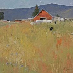 Living in Taos, New Mexico gives artist Dinah Worman a constant source of imagery to fill her canvases. Modern landscape Paintings by Dinah Worman available at Saks Galleries Contemporary Landscape, Abstract Landscape, Landscape Paintings, Abstract Art, Barn Paintings, Landscapes, Portraits, American Art, Art Gallery
