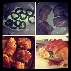 Bacon wrapped chicken stuffed with cream cheese and jalepenos yum