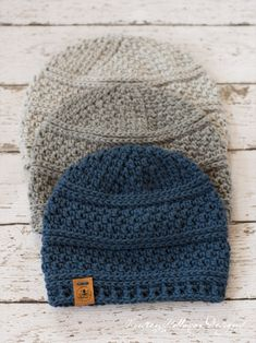 31d287beba9 Crochet a warm winter hat with this free beanie pattern. Comes in 4 easy to