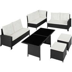 Sofa Seat Cushions, Sofa Seats, Rattan Garden Furniture Sets, Outdoor Furniture Sets, Outdoor Decor, Garden Dining Set, Sofa Dimension, Extra Seating, Lounge