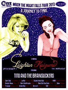 LEIGHTON KOIZUMI feat. TITO AND THE BRAINSUCKERS Official Tour Poster