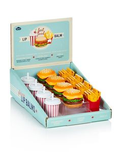 These adorable lip balms are a fun little gift for anyone who loves fries! And they are vanilla flavored! YUM!