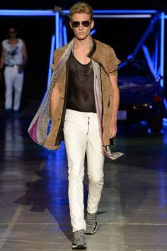 Roberto Cavalli Spring 2015 Menswear Collection Slideshow on Style.com