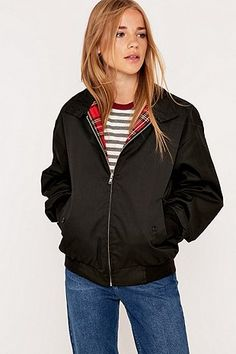 Urban Renewal Vintage Surplus Black Harrington Jacket - Urban Outfitters