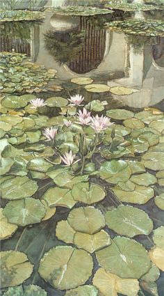 "Vintage French Soul ~ Steve Hanks ""Lilies of Balboa"" Balboa Park, San Diego. Watercolor Artists, Watercolor Paintings, Watercolors, Art Paintings, American Artists, Artist At Work, Lovers Art, Les Oeuvres, San Diego"