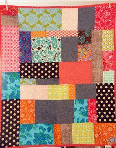 Patchwork Throw Quilt. $85.00, via Etsy.