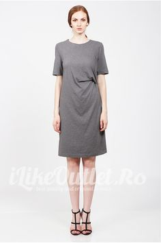 Rochie gri Sibelle COS Short Sleeve Dresses, Dresses With Sleeves, Shirt Dress, T Shirt, Fashion, Supreme T Shirt, Moda, Shirtdress, Tee