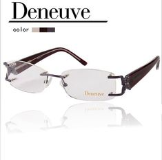 005407c1bf ZENOTTIC 2018 Fashion Design Brand Luxury Eyeglasses Frame Women Lady Style  Optical Rimless Glasses Frames Famale