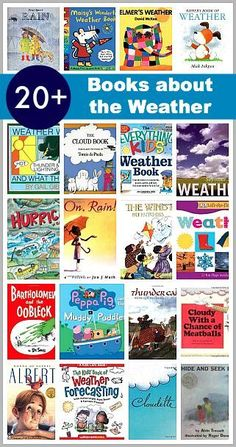 20+ Children's Books about Weather (Includes BOTH fiction & nonfiction, as well as books for young children)~ Buggy and Buddy