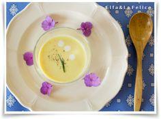 スイートコーンの冷製スープ  La Felice 旬菜料理教室