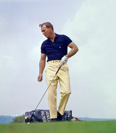 The coolest golfer of all-time.  Period.  Arnold Palmer, circa 1965. (Photograph from the Golf Digest Resource Center)
