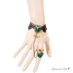 Schmuck Set Barock Armband GREEN ROSE Butterfly aus...