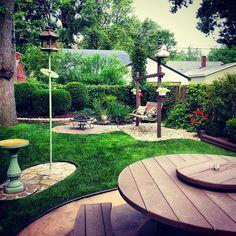 My landscaped beautiful backyard