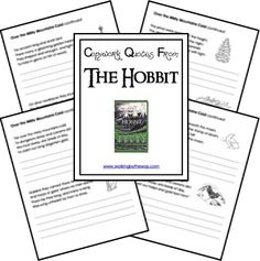 Free Copywork Printables: The Hobbit