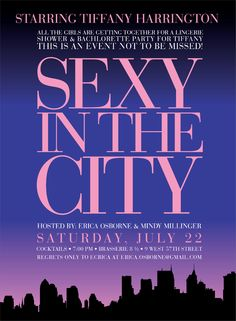 Sex in the City theme kinda invite