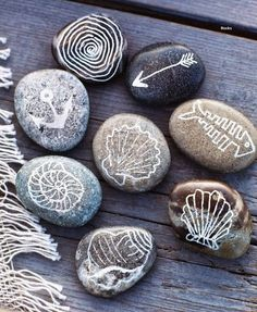 Call them beach rocks because they are, or because they're rocks (from your yard or elsewhere) painted with a beach theme. Take delight in t...