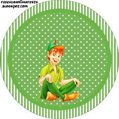 Peter Pan – Kit Completo com molduras para convites, rótulos para guloseimas, lembrancinhas e imagens! | Fazendo a Nossa Festa
