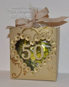 Golden Anniversary Fancy Favors by Card Shark - Cards and Paper Crafts at Splitcoaststampers
