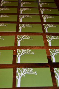Place cards.. Plan to do my own calligraphy for names and seating assignments in white ink.