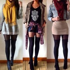 Thigh High Socks Outfit Gallery 1 2 or 3 double tap for these outfits from Thigh High Socks Outfit. Here is Thigh High Socks Outfit Gallery for you. Thigh High Socks Outfit 3 ways to wear thigh high socks wikihow. Thigh High Outfits, Thigh High Socks Outfit, Knee High Socks Outfit, High Socks Outfits, Thigh Socks, Fall Winter Outfits, Summer Outfits, Look Fashion, Autumn Fashion