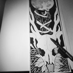 Progress hand drawing..