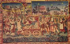 In 1538 AD a tapestry was created in the city of Bruges in Belgium, known as the Summer's Triumph. It depicts the victorious ascension of a ruler to power. However, there is something far more interesting depicted in the tapestry, which would be easy to miss unless you were looking closely - multiple objects in the sky, which have the classical UFO shape that is popularised in the media.